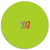 Cool Color New Year Circle - Back