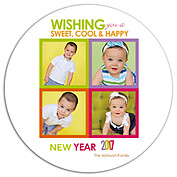 Cool Color New Year Circle - Front