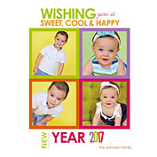 Cool Color New Year Square - Front
