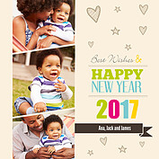 New Year Love Square - Front
