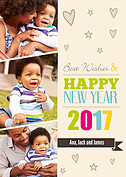 New Year Love New Year Flat Cards - Front