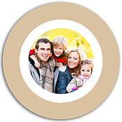 Thanksgiving Love Beige Circle - Back