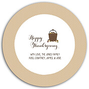 Thanksgiving Love Beige Circle - Front