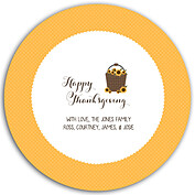 Thanksgiving Love Gold Circle - Front