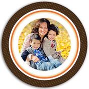 Turkey Frame Chocolate Circle - Back
