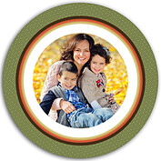 Turkey Frame Green Circle - Back
