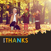 Thanks Leaves Square - Front