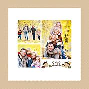 Thanksgiving Love Beige Square - Back