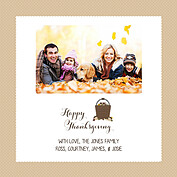 Thanksgiving Love Beige Square - Front