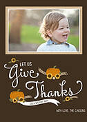 Give Thanks Chocolate Thanksgiving Flat Cards - Front