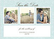 Save Sweet Pattern Save the Date Cards - Front