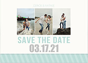 Save Simple Stripe Save the Date Cards - Front