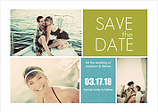 Modern Block Date Save the Date Cards - Front