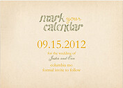 Lovebirds Date Save the Date Flat Cards - Back