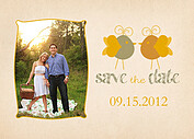 Lovebirds Date Save the Date Flat Cards - Front