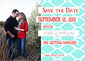 Pretty Print Date Blue Save the Date Flat Cards - Front