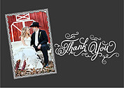 Timeless Thanks Thank You Flat Cards - Front