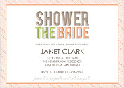 Peachy Keen Shower Shower Invites Flat Cards - Front