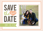 Peachy Keen Date Save the Date Flat Cards - Front