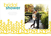 Flower Garden Shower Yellow Teal Shower Invites Flat Cards - Front