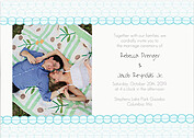 Bubbles Invitation Aqua Wedding Invites Flat Cards - Front