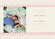 Bubbles Invitation Pink Wedding Invites Flat Cards - Front