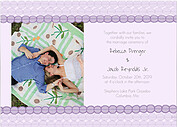 Bubbles Invitation Purple Wedding Invites Flat Cards - Front