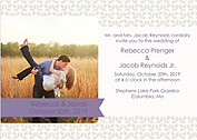 Floral Invitation Purple Wedding Invites Flat Cards - Front