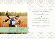 Floral Invitation Sage Wedding Invites Flat Cards - Front