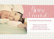 Floral Shower Pink Shower Invites Flat Cards - Front