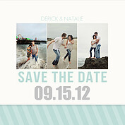 Save Simple Stripe Square Save the Date Flat Cards - Front