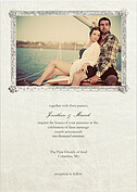 Gray Frame Invite Wedding Invites Cards - Front