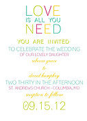 Color Pop Invitation  - Front