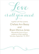 Aqua Suite Invitation Wedding Invites Flat Cards - Front