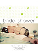 Criss Cross Shower Lime Shower Invites Flat Cards - Front