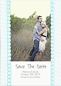 Bubbles Date Aqua Save the Date Flat Cards - Front