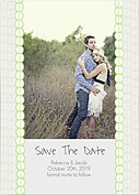Bubbles Date Green Save the Date Flat Cards - Front