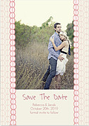 Bubbles Date Pink Save the Date Flat Cards - Front