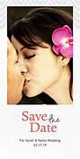 Chevron Save Date Save the Date Photo Cards - Vertical