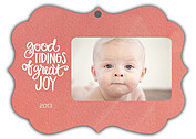 Good Tidings Coral Ornate - Front