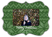 Holiday Sweater Green Ornate - Front
