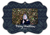 Holiday Sweater Navy Ornate Christmas Holiday Ornaments - Front