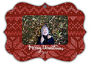 Holiday Sweater Red Ornate - Front