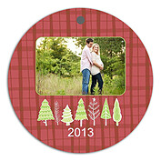Plaid Trees Red - Front