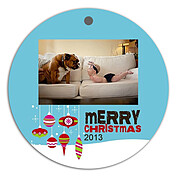 Twinkling Ornaments Christmas Holiday Ornaments - Front
