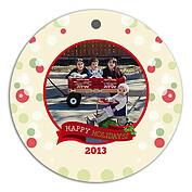 Wonderful Season Holiday Holiday Ornaments - Front