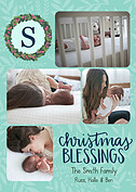 Christmas Blessings Aqua - Front