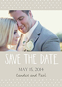 Swiss Dot Date Neutral Wedding Magnets - Front