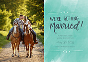 Marvelous Marriage Date Wedding Magnets - Front