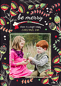 Be Merry Christmas Magnets - Front